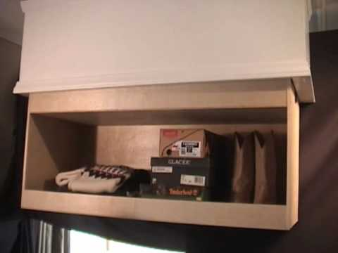 Ceiling Cabinet With Automatic Shelf Lift Youtube