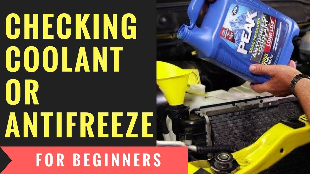 Checking Coolant Or Antifreeze For Beginners Youtube