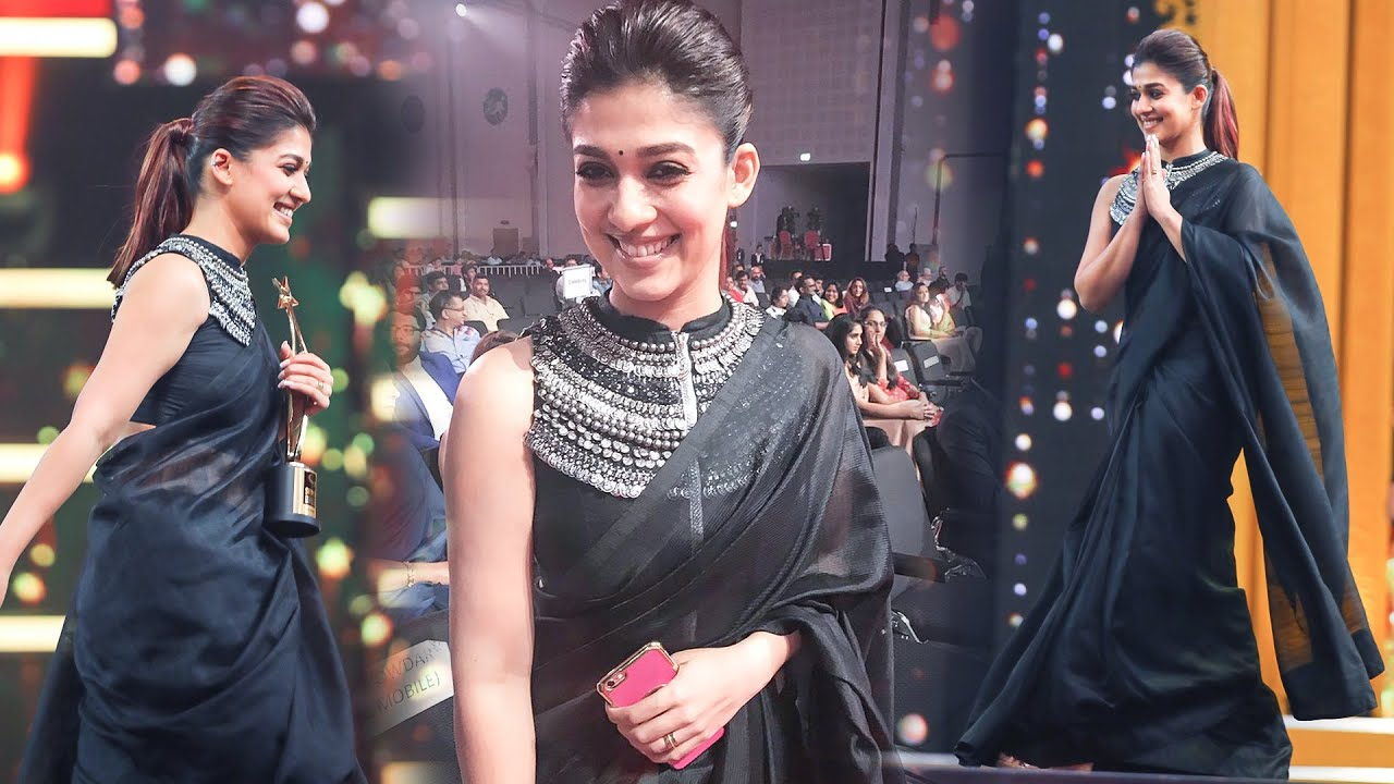 Download Nayanthara's Stylish Entry Makes Her Fans Crazy At SIIMA