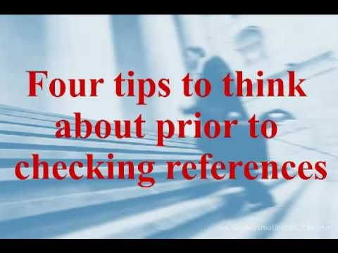 Employment Reference Checks:  Don't Skip This Step