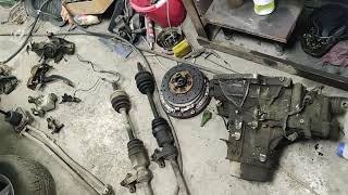Mazda 626 GE Замена коробки передач с автомата на механику. Свап АКПП на МКПП.