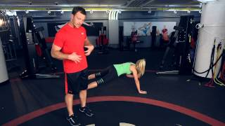 UA Performance Training Tip - Pushup Shoulder Tap
