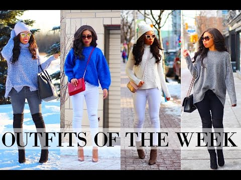OUTFITS OF THE WEEK & WINTER LOOKBOOK: JANUARY 2017 | Cold Weather Outfit Ideas!