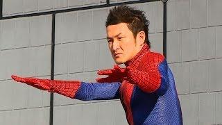 スパイダーマンの大ファンで知られる歌舞伎俳優の中村獅童が15日、再び...