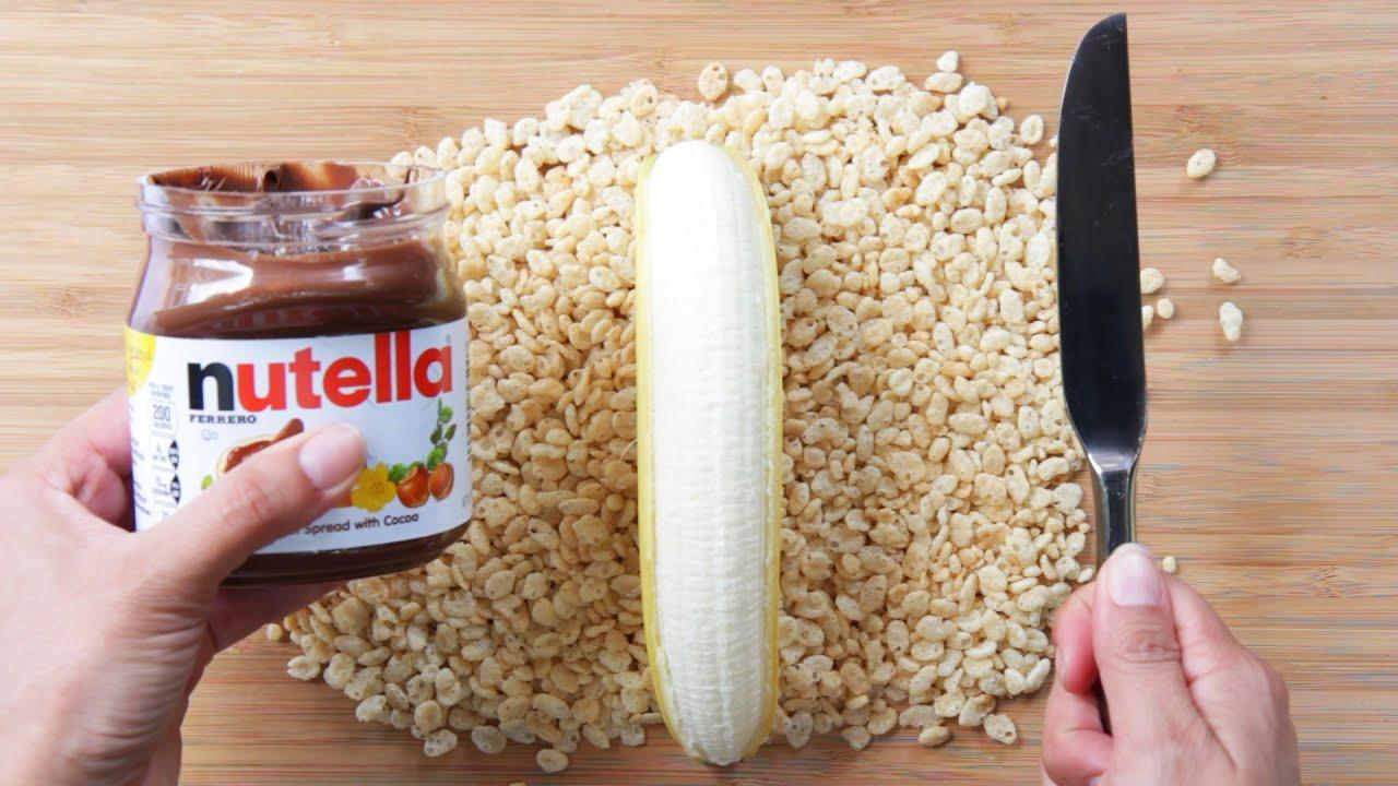 Famosos Banana Nutella Sushi - YouTube LV69