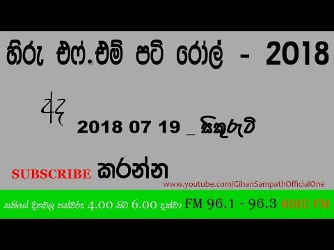 Hiru FM : Pati Roll — 2018 07 19 - Security - සිකුරුටි