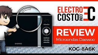 Daewoo KOG-8A6K - 👩🏻‍🍳 Review Microondas con Grill 🍳 800W 23 Litros Negro 👨🏻‍🍳