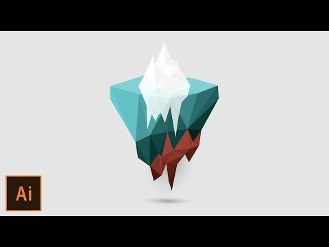 Vector Low Poly Iceland Illustrator Tutorial thumbnail