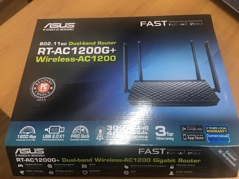 ASUS RT AC-1200G+ router with Singtel Broadband - YouTube