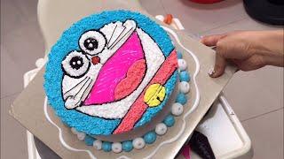 Cách làm bánh kem doremon đơn giản đẹp #2 - how make doremon birthday cake