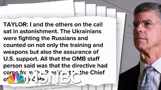 U.S. Diplomat Testimony Released, Paints A Haunting Of A Shadow Foreign Policy  | Deadline | MSNBC