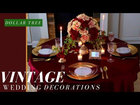 DIY VINTAGE WEDDING CENTERPIECE | FALL WEDDING DECORATIONS | DOLLAR TREE WEDDING DECORATIONS