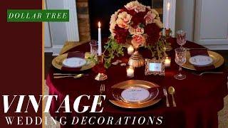 Vintage Wedding Ideas | Fall Wedding Decorations Ideas | Dollar Tree DIY Wedding Decorations
