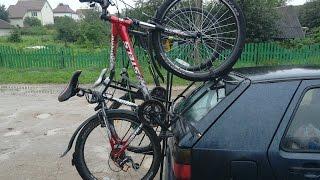 видео Багажник для велосипеда на заднюю дверь или фаркоп