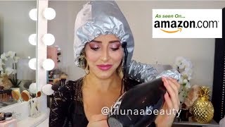 """Trying out the """"Hair Bonnet"""" dryer cap! 💁🏼"""