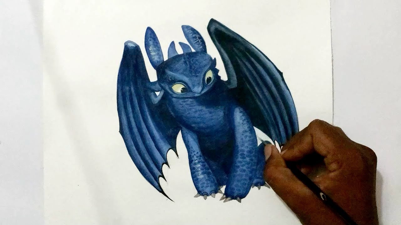 How To Draw Toothless Dragon Art
