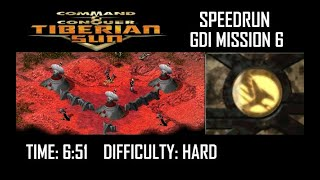 SPEEDRUN: C&C Tiberian Sun GDI Mission 6, Hard. NO GLITCH