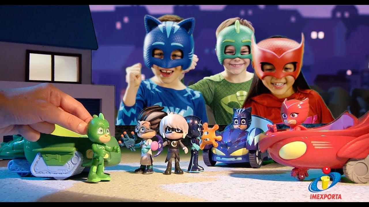 Pj Masks Youtube En Pijama Imexporta Heroes Juguetes 8vON0mwn