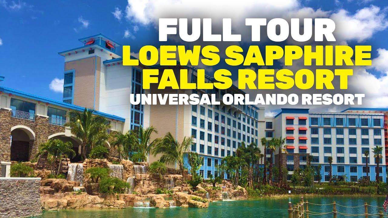 NEW Loews Sapphire Falls Resort full walkthrough tour at Universal