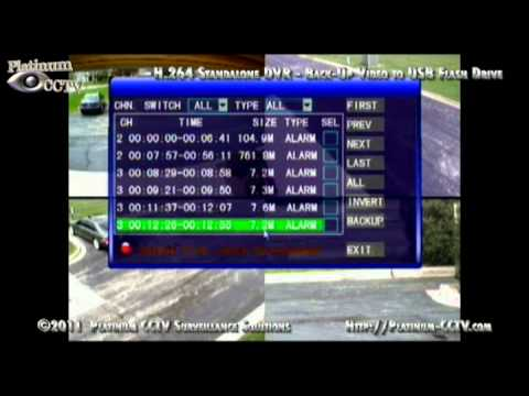 Backup Video To Usb Dvr 7004 H 264 Standalone Dvr Youtube