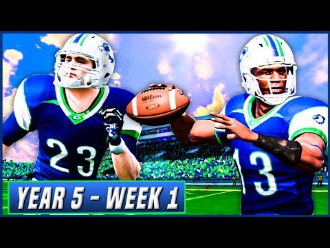 J.R. Battle's Starting QB Debut - NCAA Football 14 Dynasty Year 5 - Week 1 vs North Texas | Ep.73