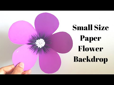 DIY Easy Paper Flower Tutorial - Small Flowers for Wall Backdrop