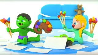 Kids Doing Activities At Home ❤ Cartoons For Kids