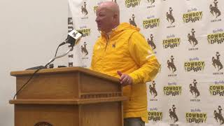 Wyoming coach Craig Bohl talks win over SJSU