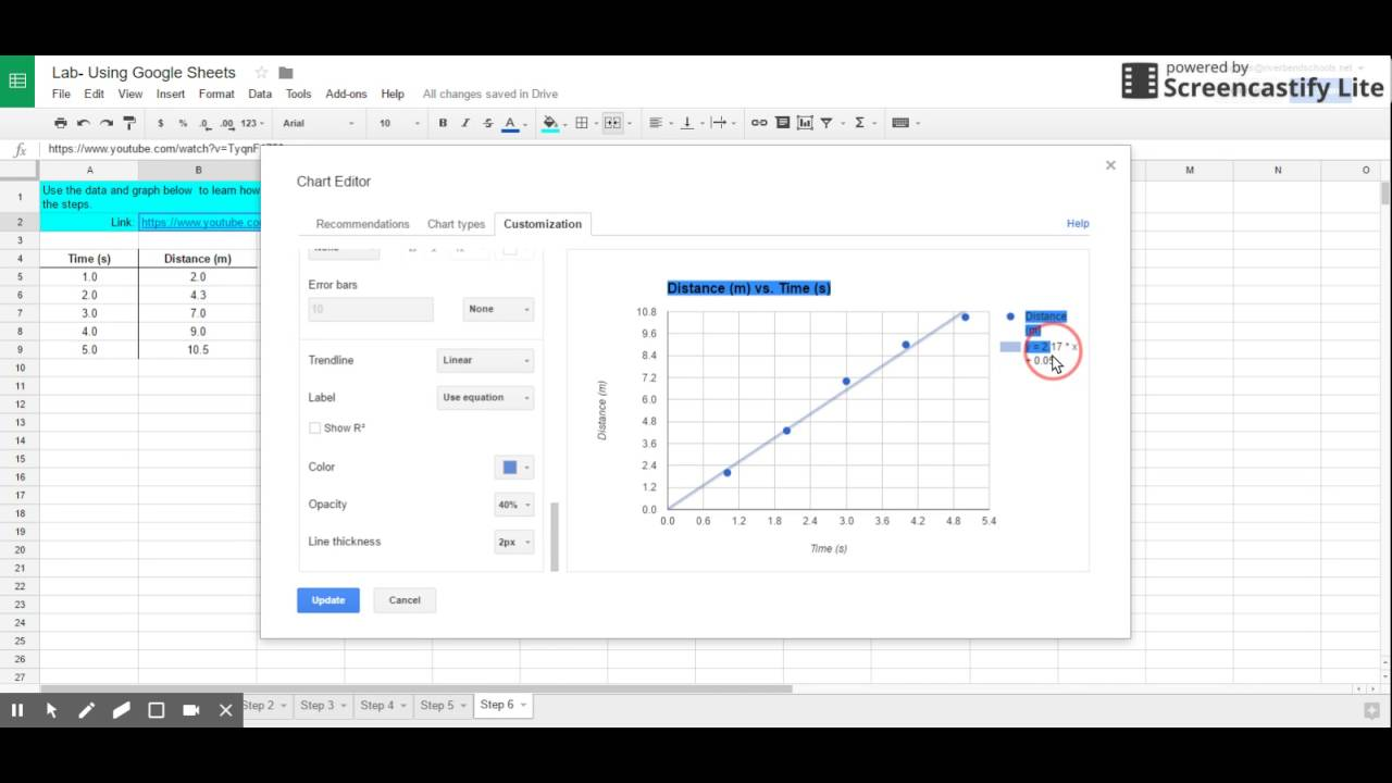 Adding Trendline to Google Sheets Graph