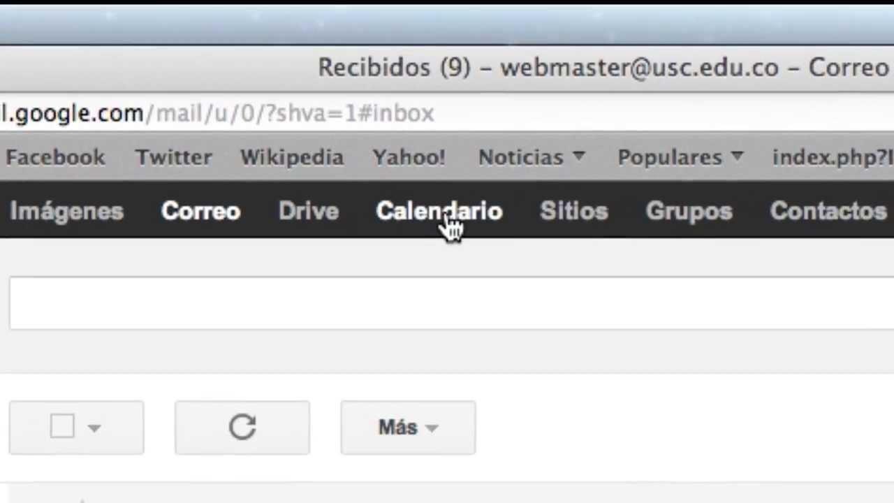 Usc Calendario.Usc Gt Uso De Calendario Integrado A Correo Institucional Usc Gmail