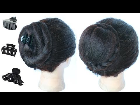 3 Cute Daily Juda Hairstyle With Clutcher Simple Hairstyle