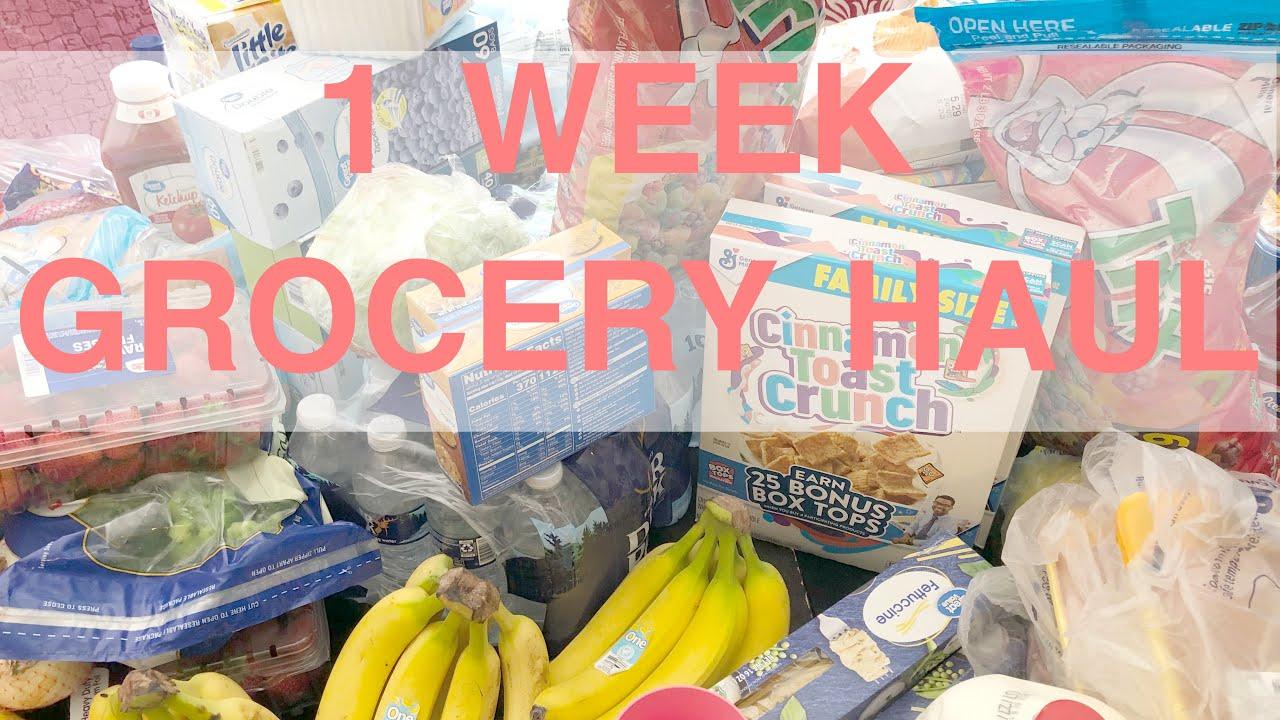 GROCERY HAUL | 1 WEEK | WALMART