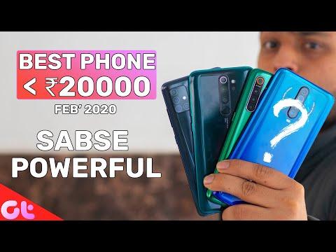 TOP 6 BEST PHONES UNDER 20000 In FEB 2020 | Sabse Powerful? | GT Hindi
