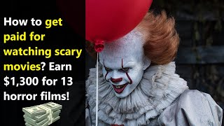 Free $1,300 just for watching horror movies! Apply for FinanceBuzz experiment to be movie analyst!