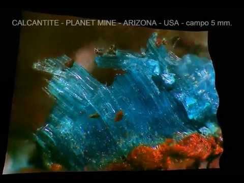 CALCANTITE 3D  PLANET mine   ARIZONA   USA   campo 5 mm  enhanced