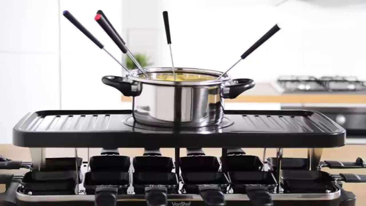 Vonshef Raclette Grill With Fondue Youtube