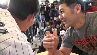 藤原恭大、腕相撲日本チャンピオンに挑んだキャンプ最終日にカメラが密着【広報カメラ】