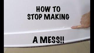 HOW TO CAULK BASEBOARDS