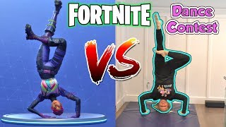 Fortnite Dance Challenge In Real Life | DavidsTV