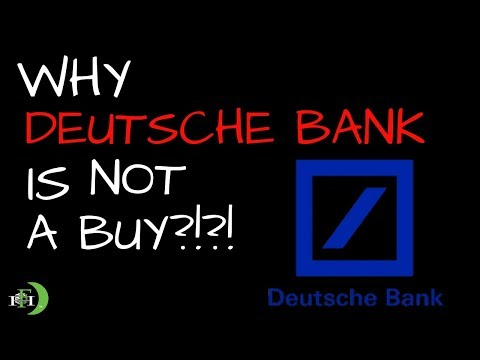DEUTSCHE BANK | WHY ITS NOT A BUY?!?! (THE EASY WAY)