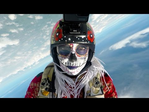 GoPro: Day of the Dead Skydive with Roberta Mancino