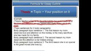 English Essay Formula 1: How to Outline the 5-Paragraph Essay/Composition