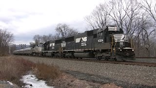 Amtrak Train with Helper Locomotives