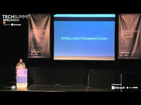 Managing secrets at scale, Alex Schoof, LeaseWeb Tech Summit Berlin 2016