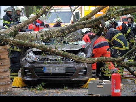 "Sturm und Unwetter fordern Todesopfer: ""Xavier"" fegt über Hamburg hinweg"