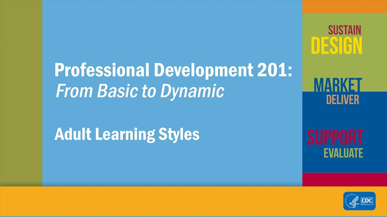 Different adult learning styles can