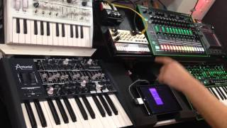 Using Auxy on iPad to sequence hardware synths