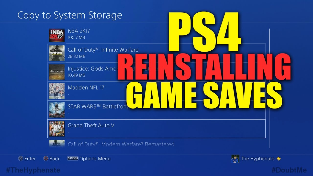How To: Reinstalling PS4 Game Saves [ USB Flash Drive & Playstation Plus ]