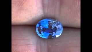 Bright Medium Cornflower Blue Stunning Unheated Sapphire with Certificate, Oval Cut, 2.59 carats