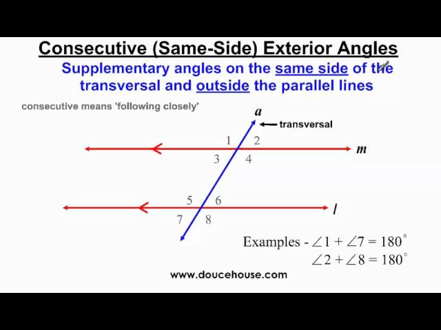 Angle Relationships Parallel Lines And Transversals - Lessons - Tes